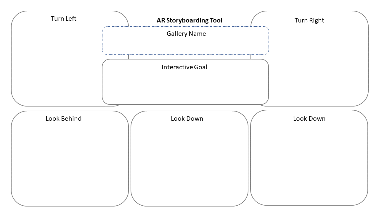 Template for an AR storyboarding tool